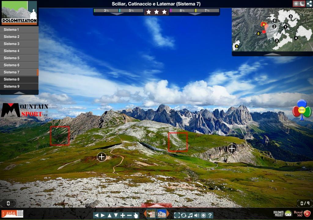 Dolomitization sciliar catinaccio latemar 1024x719 Dolomitization scoprire le Dolomiti Unesco interattive