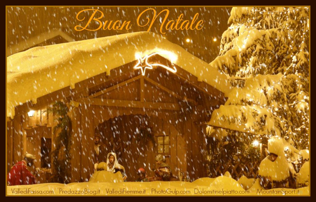 buon natale a predazzo 1024x655 Avvisi Parrocchie 17 25 dicembre Orari Messe Natale
