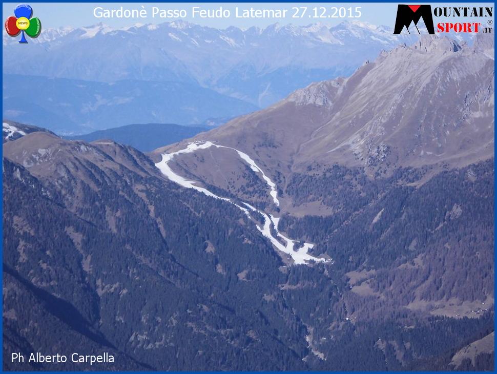 gardone passo feudo 27.12.15 Quando mancava la neve   Foto aeree delle Dolomiti senza neve