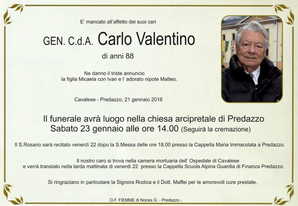 carlo valentino generale 1024x708 È scomparso il generale Carlo Valentino
