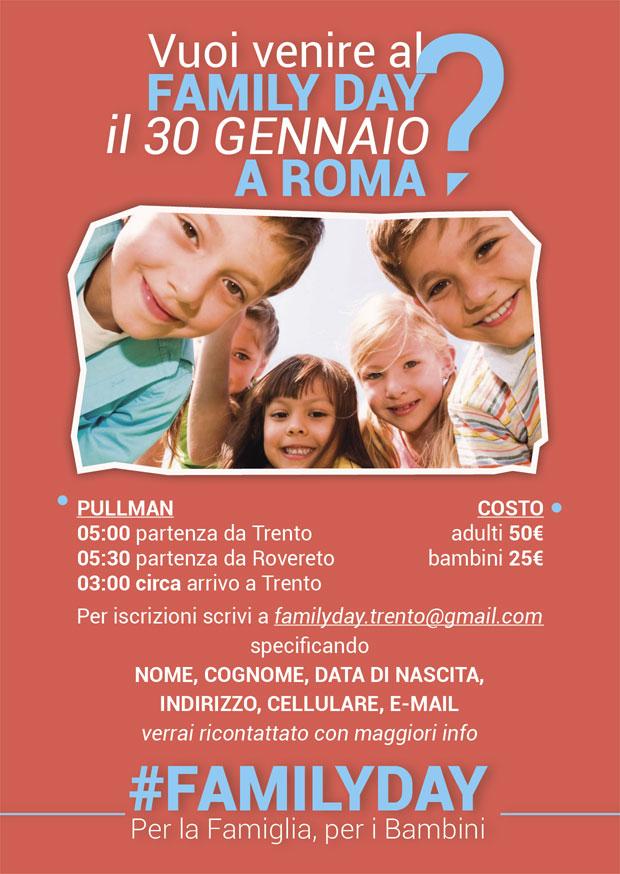 family day trento Family Day, si parte anche da Fiemme e Fassa   Rassegna Stampa