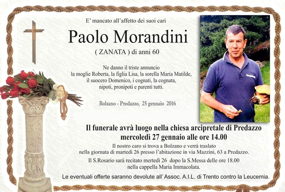 paolo morandini zanata Necrologio, Paolo Morandini (zanata)