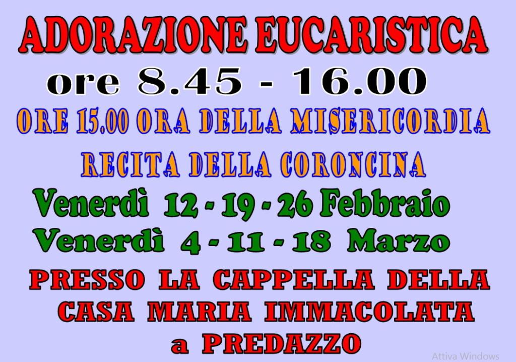 adorazione avvisi 1024x718 Avvisi parrocchiali dal 14 al 21 febbraio
