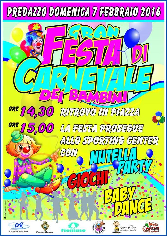 carnevale bambini predazzo 2016 Val di Fiemme, debutta il primo Carnevale d'Oro Zecchino