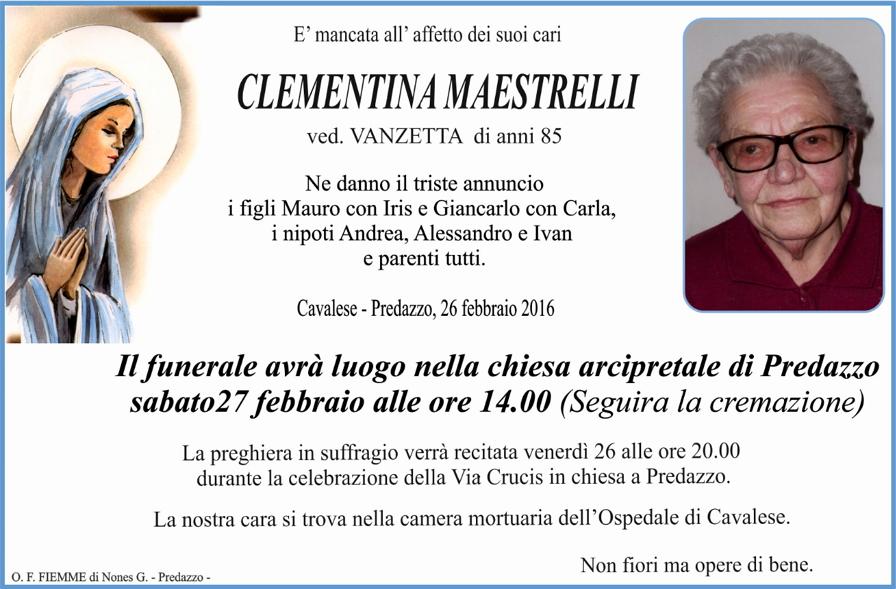 clementina maestrelli Necrologio Clementina Maestrelli