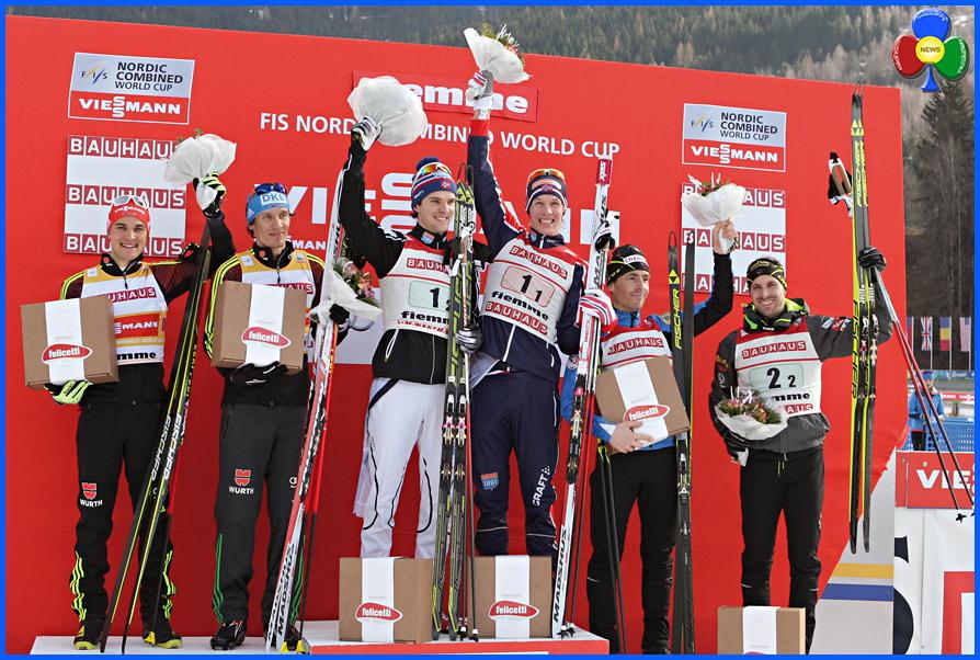 coppa del mondo combinata nordica 2016 fiemme podio La Norvegia trionfa ancora in Val di Fiemme