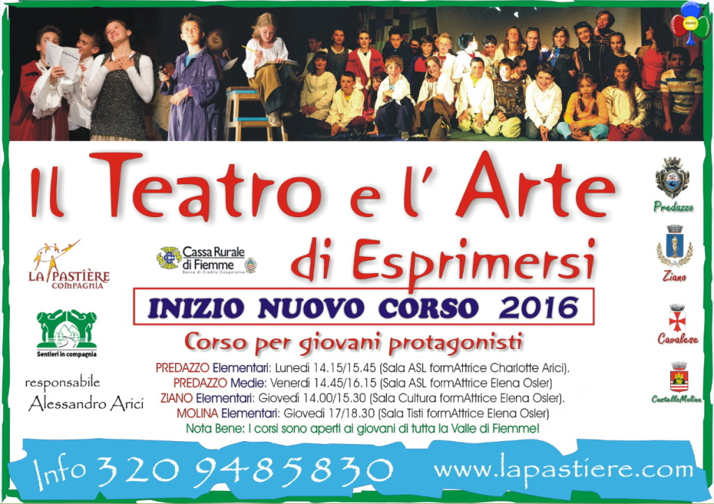 corso teatro predazzo ziano 2016 1024x722 Aperti i nuovi corsi per Giovani Protagonisti!