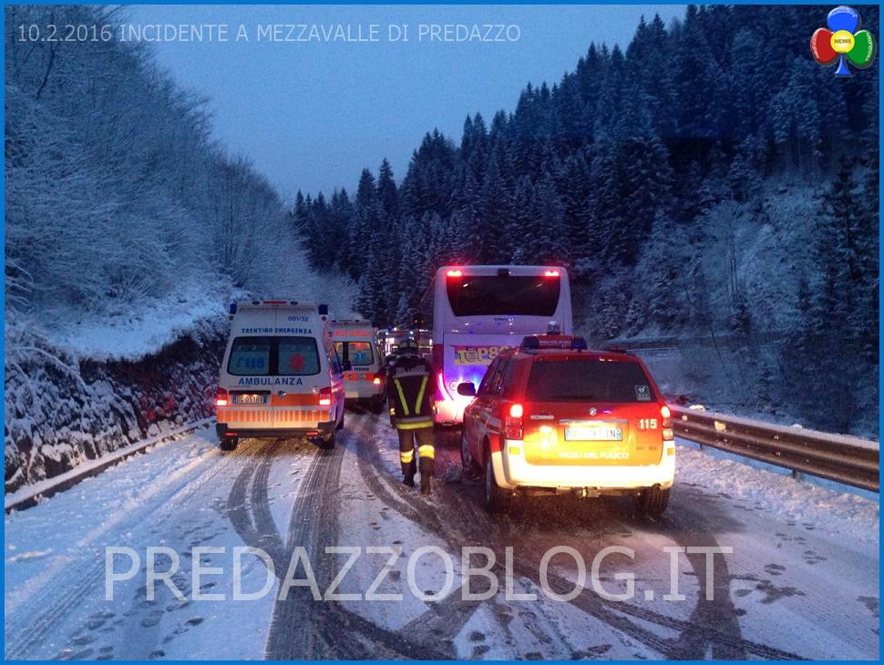 incidente mezzavalle predazzo 10.2.16 Nevicata notturna, scontro frontale a Mezzavalle