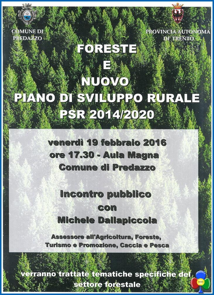 serata settore foreste 2016 Consiglio Comunale e incontri con Michele Dallapiccola