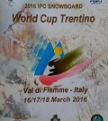 world cup trentino 2016 ipc snowboard