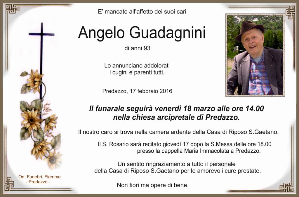 angelo guadagnini Necrologio, Angelo Guadagnini