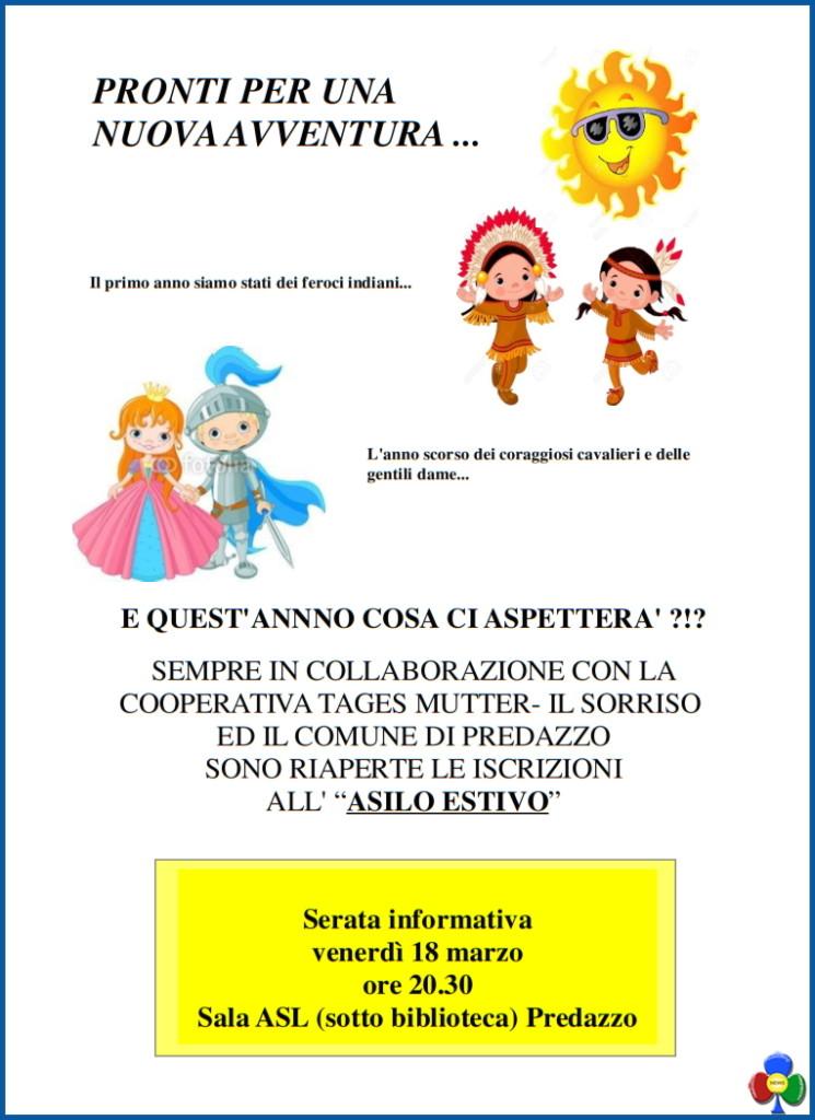 asilo estivo predazzo 2016 745x1024 Serata presentazione Asilo Estivo e Adam Summer 2016