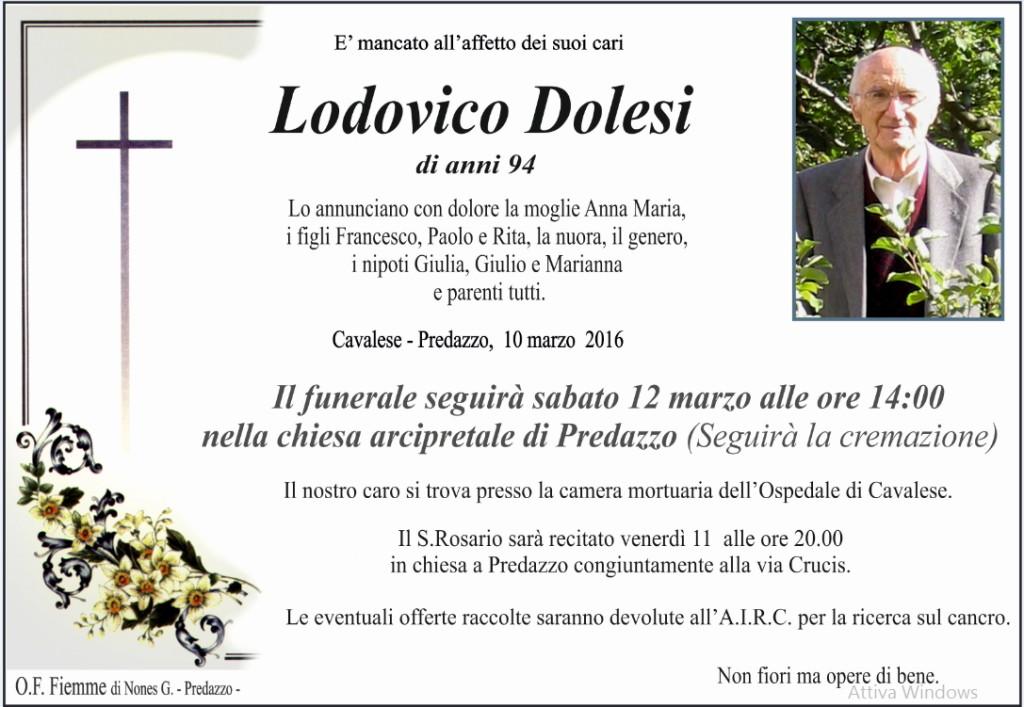 lodovico dolesi 1024x707 Necrologi Mario Cuore e Lodovico Dolesi