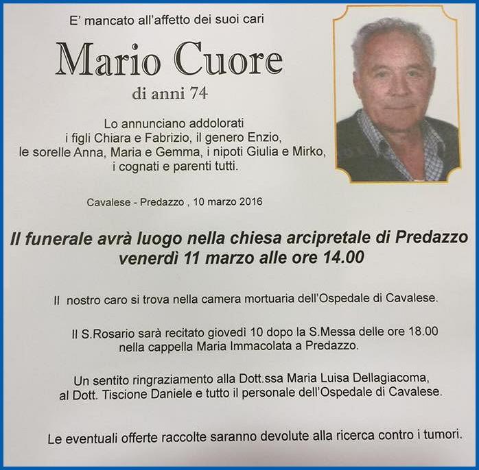 mario cuore Necrologi Mario Cuore e Lodovico Dolesi