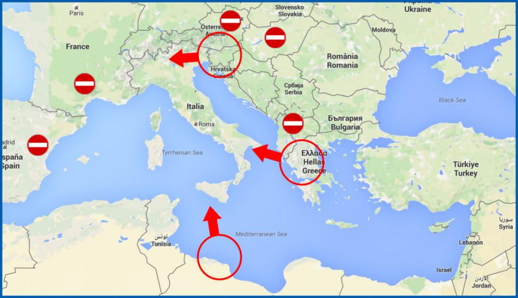 """rotta dei migranti 1024x591 La """"rotta balcanica"""" ha chiuso ai profughi"""