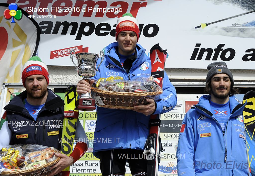 Slalom FIS 2016 Pampeago3 Slalom FIS a Pampeago: Federico Liberatore su Tonetti e Sala