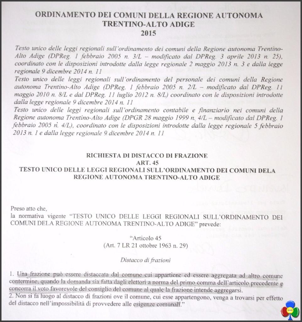 articolo 45 ordinamento comuni trentino altoadige 961x1024 Fatti concreti e non solo parole per il Passo Rolle