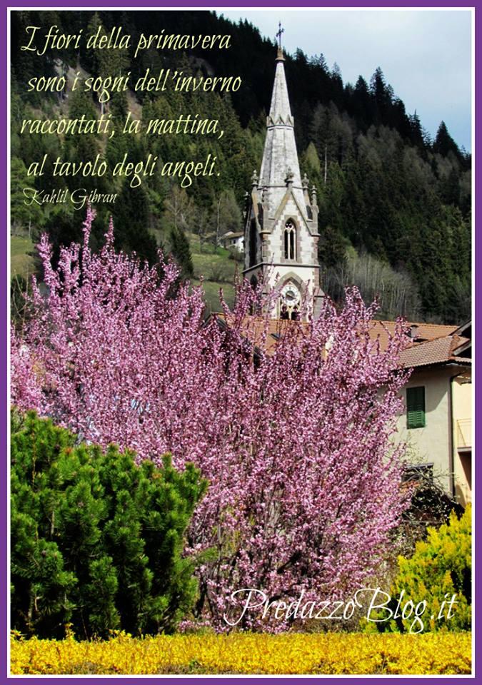 chiesa predazzo primavera Avvisi Parrocchia 10/17.4 e intervista Vescovo don Lauro