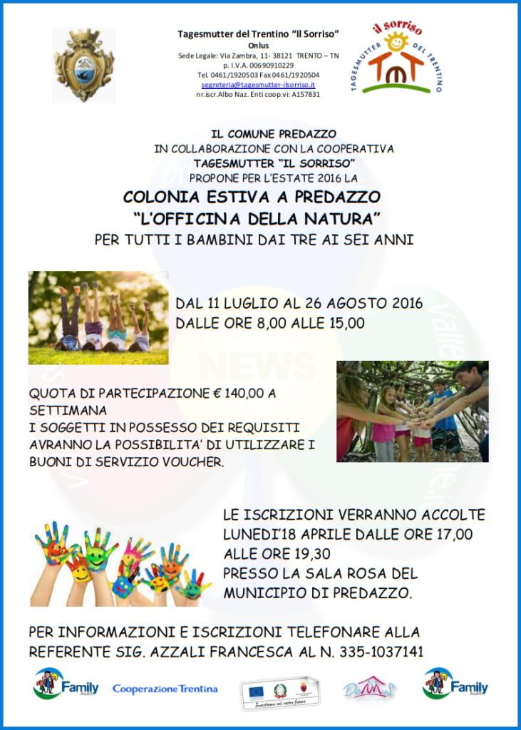 colonia estiva predazzo 731x1024 Predazzo Adam Summer 2016 e Colonia Estiva per bambini