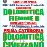 dolomitica fiemme b 150x150 Dolomitica Calcio, 3 partite nel weekend