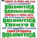 dolomitica garibaldina 150x150 Dolomitica Calcio, le partite in calendario