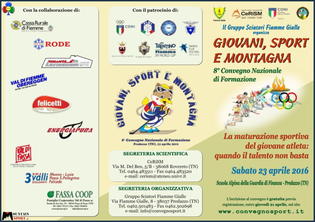 giovani e sport di montagna convegno predazzo 2016 1024x722 8° Convegno Nazionale Giovani Sport e Montagna