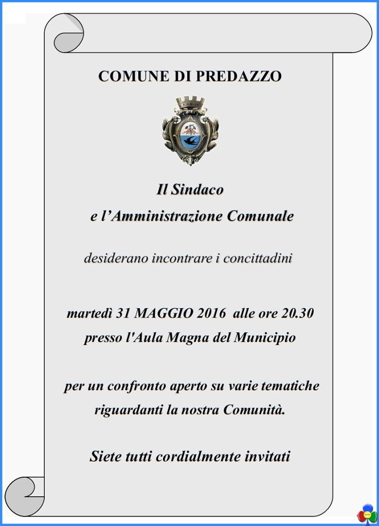 incontro con il sindaco 31 maggio 2016 737x1024 Sindaco e Amministrazione Comunale incontrano i cittadini