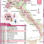 mappa tappe giro italia 2016 150x150 Giro dItalia 2011, il percorso. Tappone da Conegliano a Gardeccia in Val di Fassa