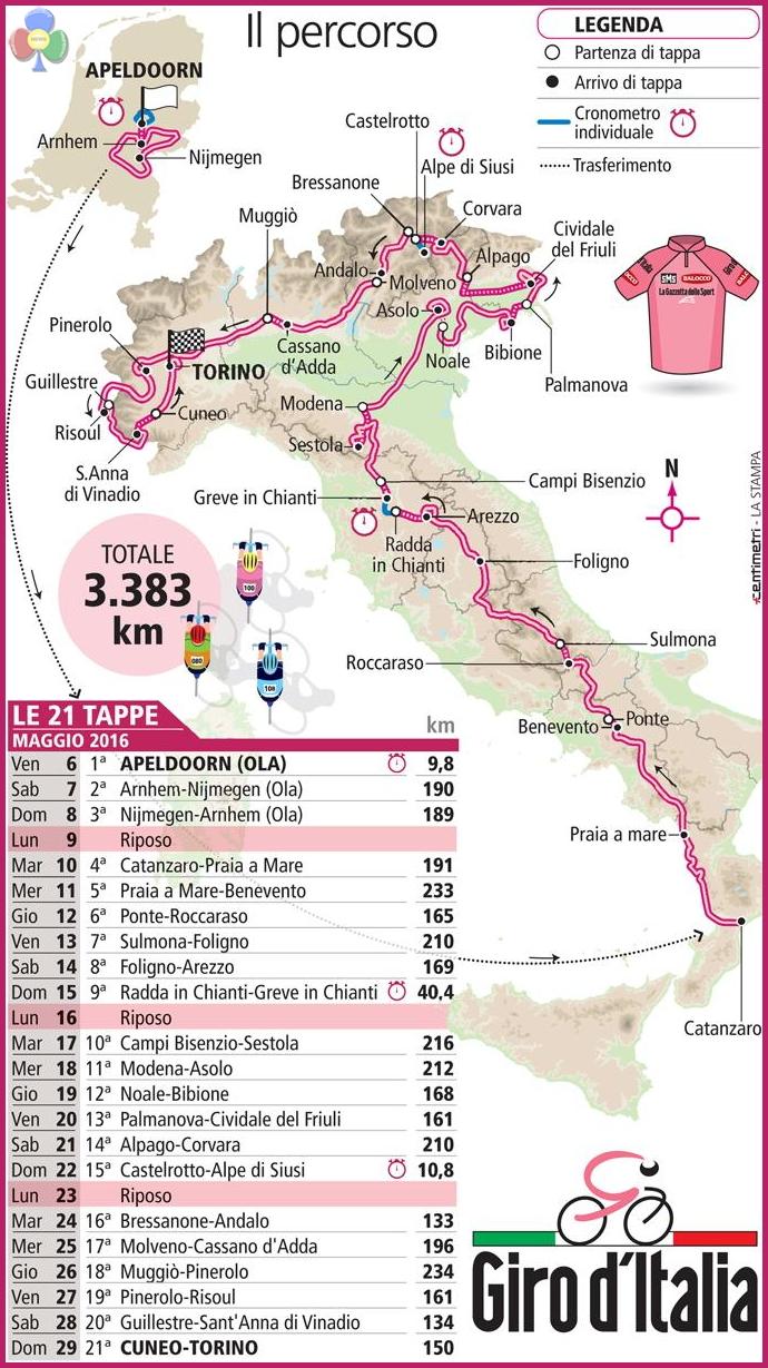 Calendario Giro D Italia.Giro D Italia Al Via Il 21 Maggio Sara Su Sella E Pordoi