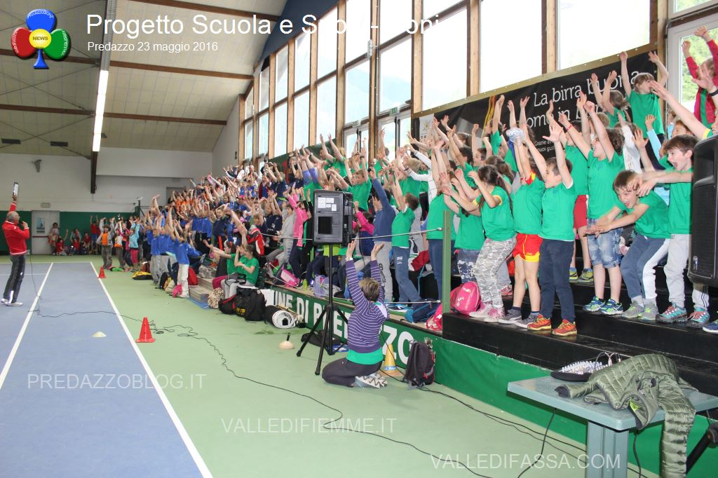scuola e sport coni a predazzo3 Una festa chiude il progetto Scuola e Sport