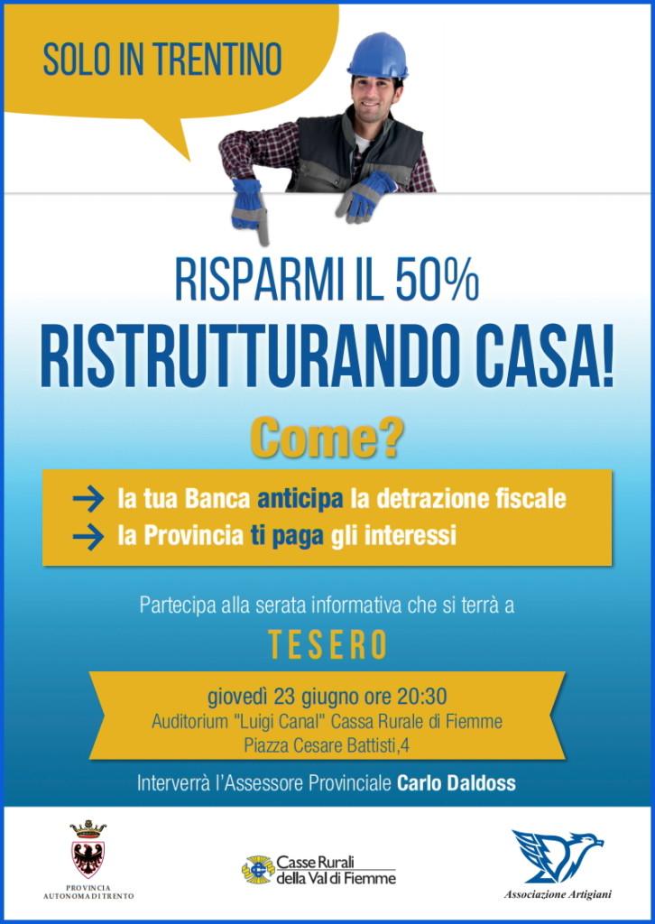 risparmi ristrutturazione cassa rurale fiemme 726x1024 Risparmi il 50% ristrutturando casa, serata informativa