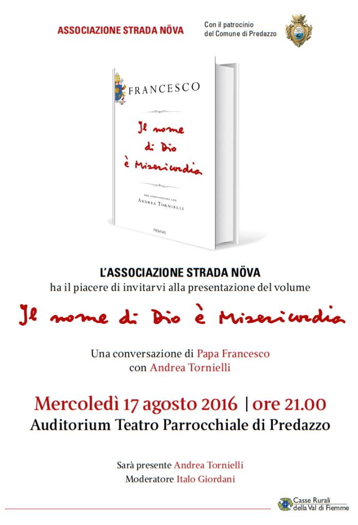 misericordia libro papa 698x1024 Farhad Bitani a Cavalese con Lultimo lenzuolo bianco