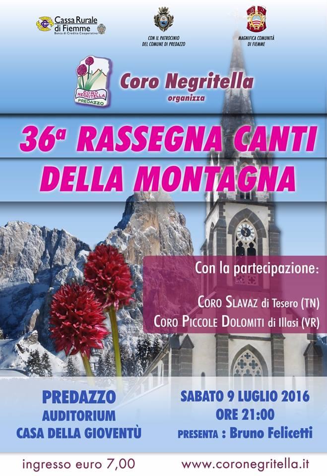 rassegna coro negritella 2016 36^ Rassegna di Canti della Montagna