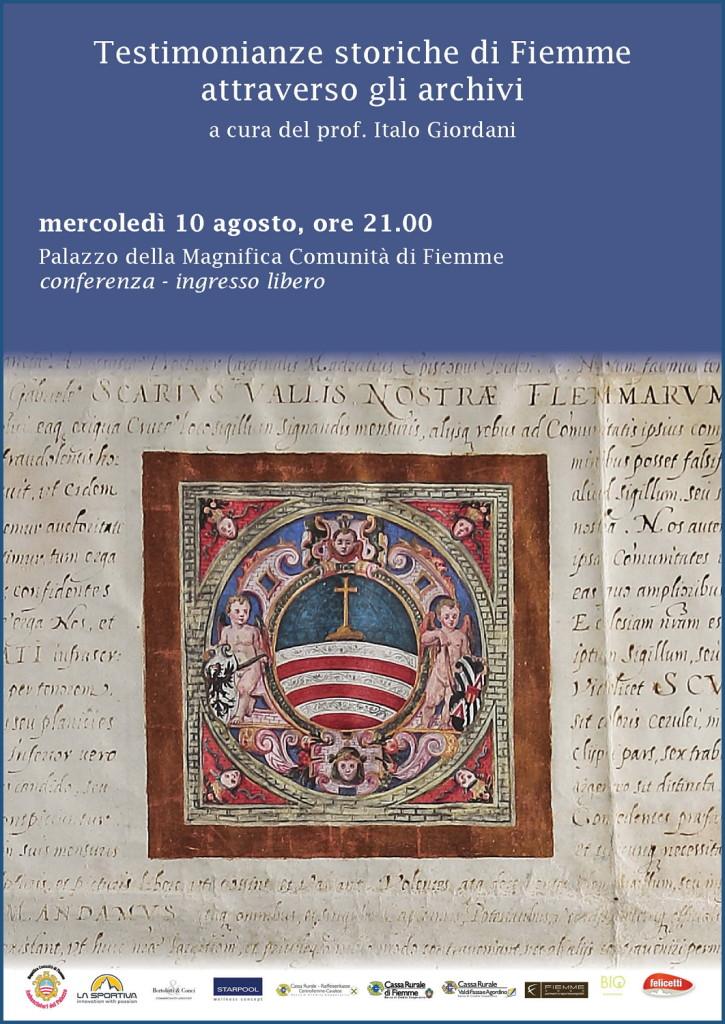 ItaloGiordani 2 725x1024 Eventi di agosto con la Magnifica Comunità di Fiemme