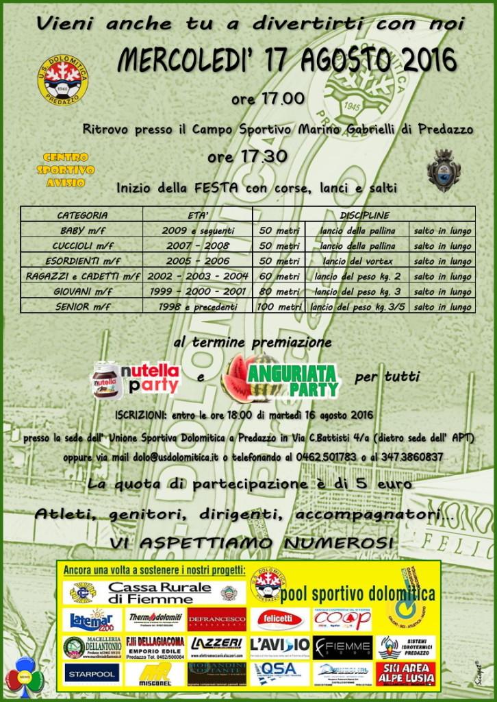 festa atletica 2016 dolomitica programma 726x1024 Festa dellAtletica 17 agosto 2016