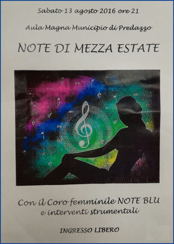 note di mezza estate 2016 730x1024 Note di Mezza Estate, concerto con le Note Blù