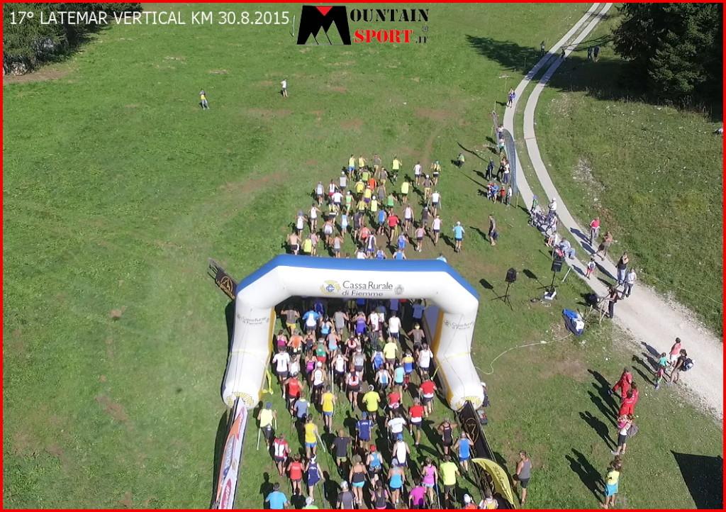 partenza 17° latemar vertical 2015 km predazzo 1 1024x722 Latemar Vertical Km domenica 28 agosto 2016