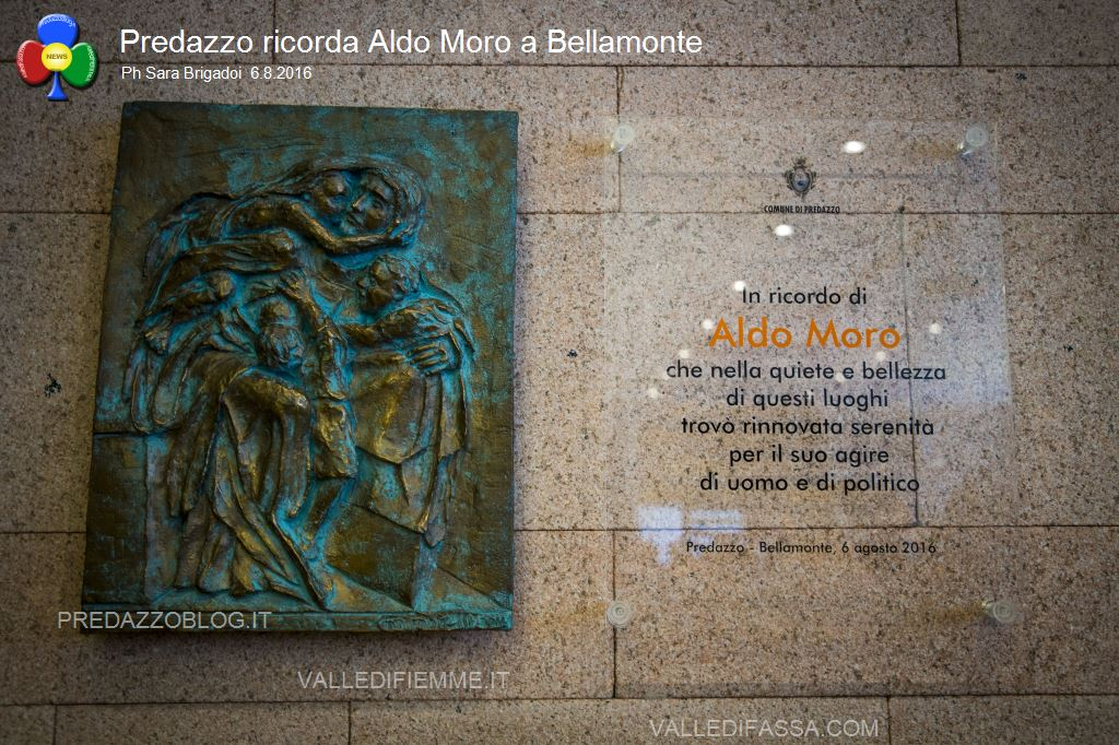 predazzo ricorda aldo moro bellamonte 6.8.16 ph sara brigadoi7 Bellamonte, intitolata ad Aldo Moro la Sala Conferenze