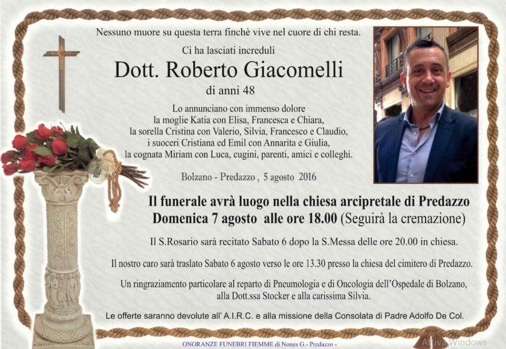 roberto giacomelli necrologio 1024x705 Predazzo piange Roberto Giacomelli