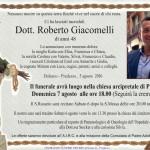 roberto giacomelli necrologio 150x150 Il grazie commosso dei familiari di Roberto Giacomelli