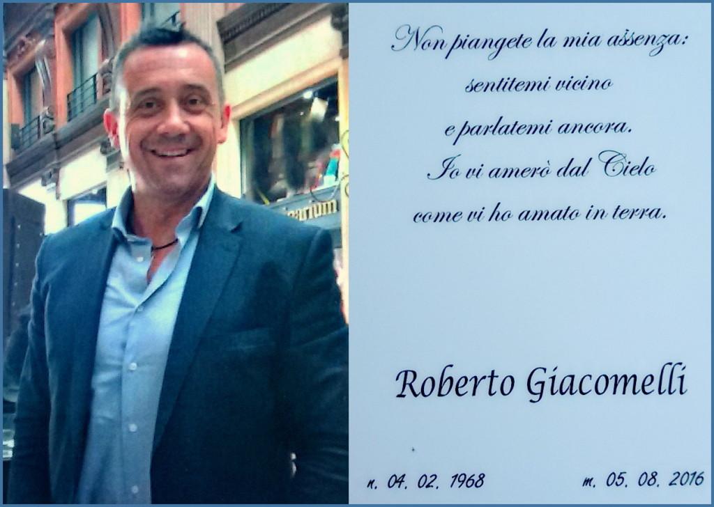 roberto giacomelli ricordo 7 agosto 2016 1024x728 Il grazie commosso dei familiari di Roberto Giacomelli