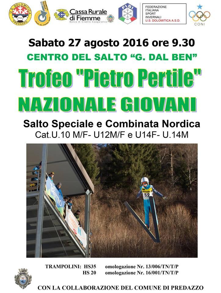 trofeo piero pertile predazzo 2016  Trofeo Pietro Pertile Coppa Italia di salto e combinata