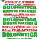 dolomitica monti pallidi partita 150x150 Dolomitica Calcio, 3 partite nel weekend