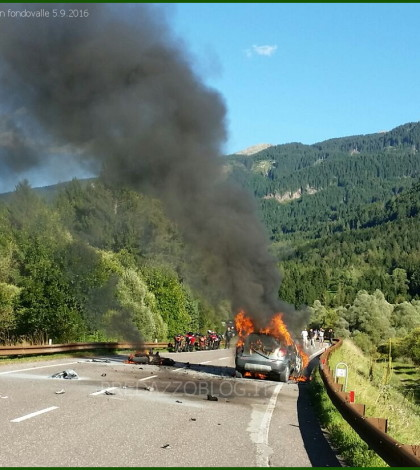 incidente con incendio a panchià fiemme 5.9.2016