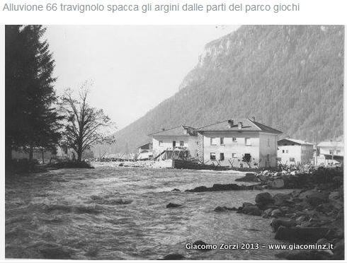 alluvione del 66 caserma carabinieri predazzo Predazzo, mostra fotografica dellAlluvione 1966