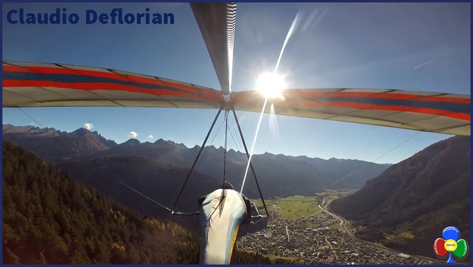 claudio deflorian deltaplano predazzo Claudio Deflorian, volare sopra i sogni con il deltaplano
