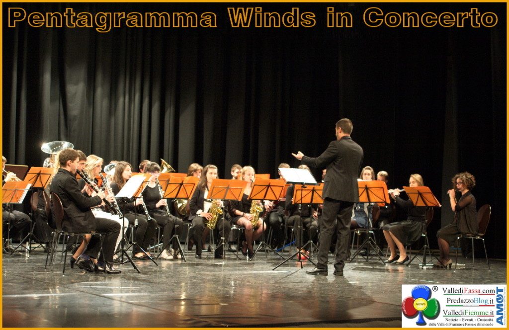 "pentagramma winds in concerto fiemme fassa 1024x664 35° del ""Pentagramma"" concerti e gran finale al Palafiemme"
