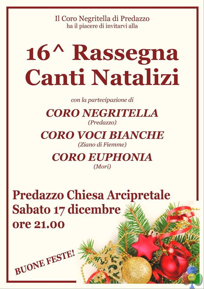 coro negritella predazzo rassegna natale 20161 16° Rassegna di Canti Natalizi con 3 cori a Predazzo