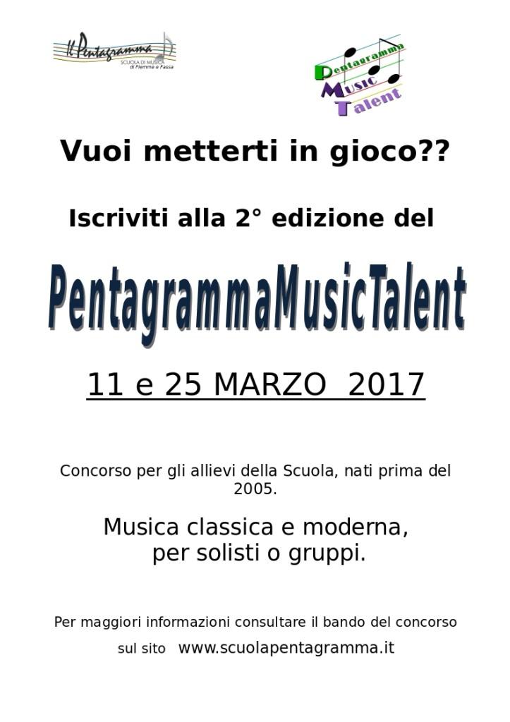 """pentagramma music talent 2017 723x1024 Il successo del nuovo progetto bandistico """"Medaglie"""" 2016"""