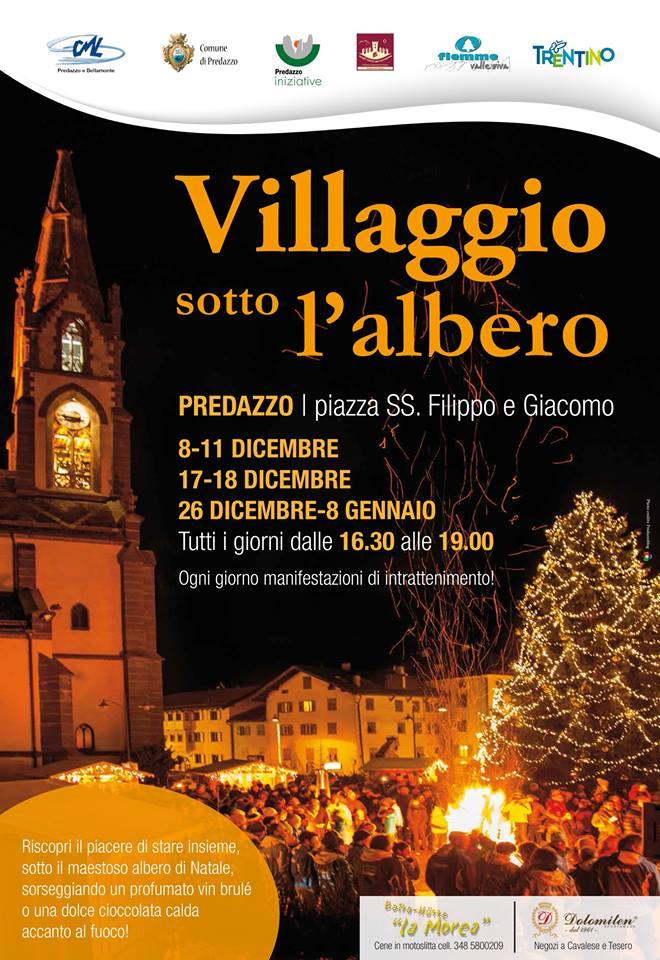 villaggio sotto albero 2016 Il Villaggio sotto l'Albero di Predazzo dall8 dicembre